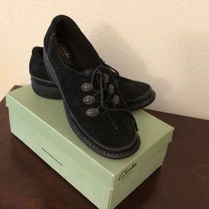 COPY - Clarks suede shoes.